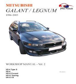 Mitsubishi - Galant / Legnum Workshop Service Manual In English | 1996~2003