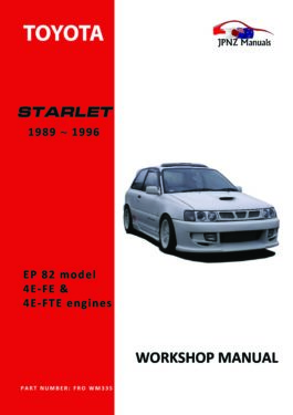 Toyota - Starlet Workshop Service Manual In English | 1989~1996