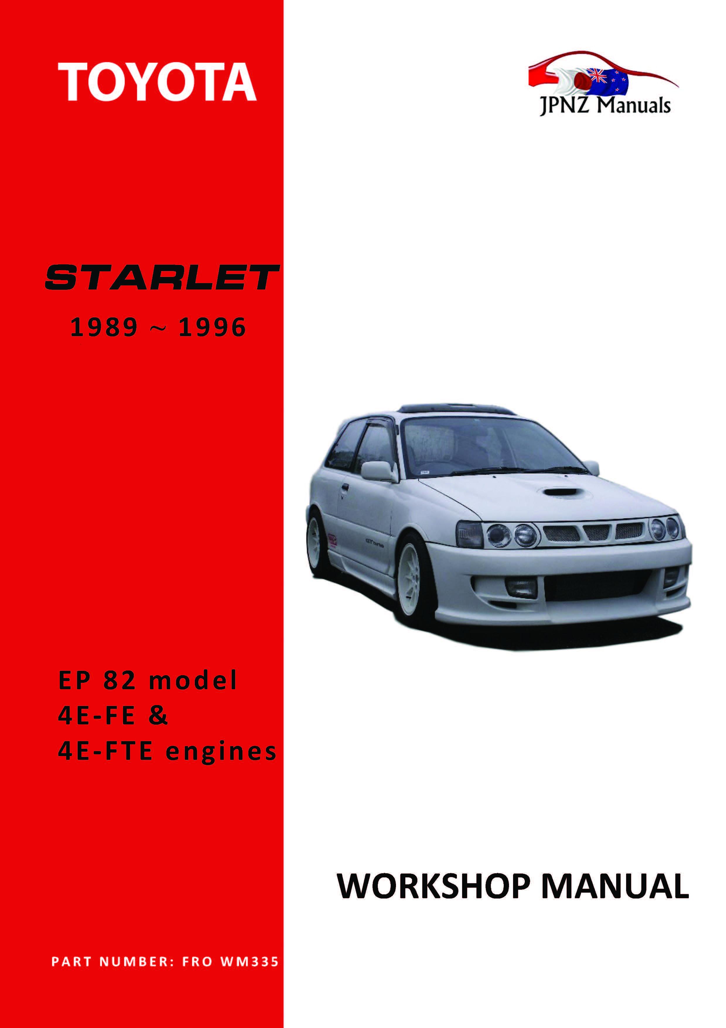 Toyota – Starlet Workshop manual | 1989~1996