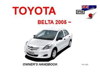 toyota belta car owners manual 2005 2012 rh jpnz co nz toyota belta manual for sale in karachi toyota belta manual download