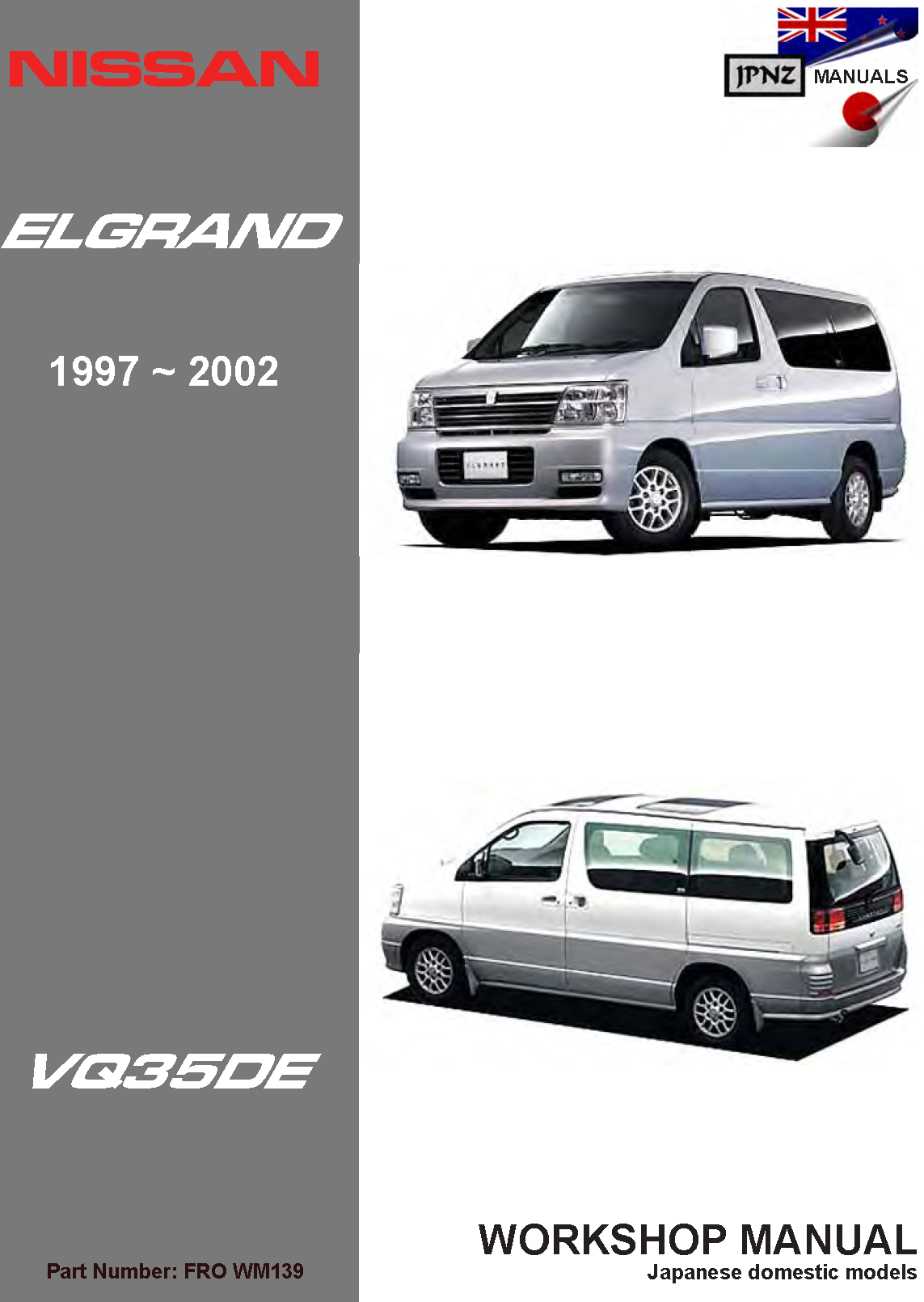 nissan elgrand e50 workshop service manual 1997 2002 rh jpnz co nz Nissan Repair Guide Nissan Pathfinder Repair Manual