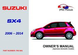Suzuki – SX4 Owners user Manual In English 2006~2014