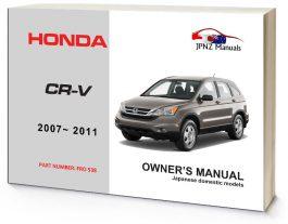 Honda - CR-V CRV Car Owners User Manual In English 2007-2011