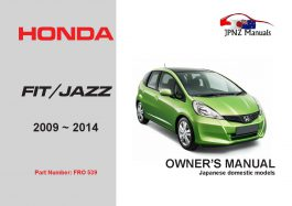 Honda – Fit / Jazz car owners user manual in English | 2009 – 2014