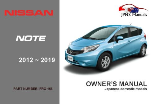 Nissan – Note E12 car owners user manual in English | 2012 – 2019