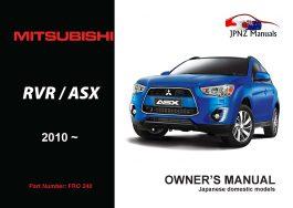 Mitsubishi – RVR / ASX Owners User Manual In English | 2010 – Present