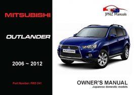 Mitsubishi – Outlander Owners User Manual In English | 2006 –2012