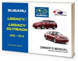 Subaru Legacy / Legacy Outback Owners User Manual In English | 2009 – 2014