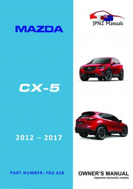 Mazda – CX-5 CX5 car owners user manual in English | 2012 –2017