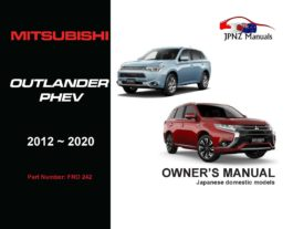 Mitsubishi – Outlander PHEV Owners User Manual In English | 2012 – 2020