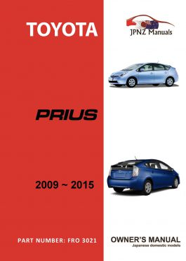 Toyota – Prius owners user manual in English | 2009 – 2015