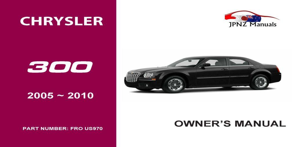chrysler 300 c owners user manual 2005 2010 jpnz. Black Bedroom Furniture Sets. Home Design Ideas