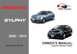 Nissan - Bluebird Sylphy car owners user manual in English | 2005 - 2012