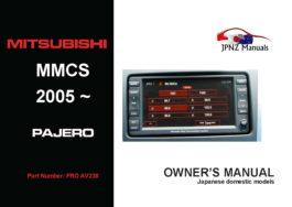 Mitsubishi – MMCS 2005~2012 Pajero Multi Communication System Manual in English