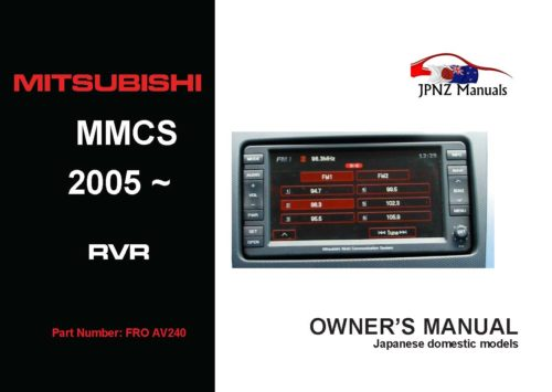 Mitsubishi – MMCS 2005~2012 RVR / ASX Multi Communication System Manual in English