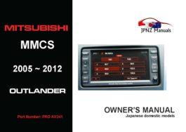 Mitsubishi - MMCS 2005~2012 Outlander Multi Communication System Manual In English
