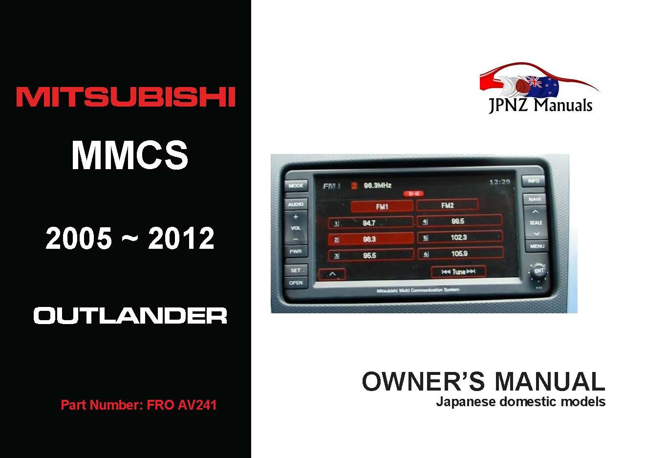 Mitsubishi Outlander Mmcs Install Manual