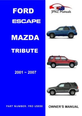 2005 ford escape owners manual online