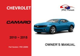 Chevrolet Camaro 2010 ~ 2015 Owners User Manual In English