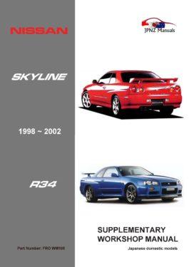 Nissan - Skyline R34 car suppliment workshop manual in English | 1998 - 2002