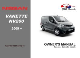 Nissan - NV200 Vanette Wagon owners user manual in English   2009 - Current