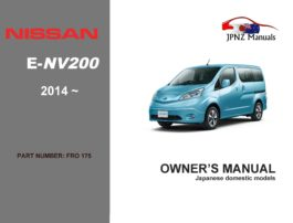 Nissan - e-NV200 eNV200 Wagon owners user manual in English | 2014 - Current