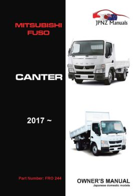 Mitsubishi Fuso - Canter Truck owners user manual in English | 2017 - Current