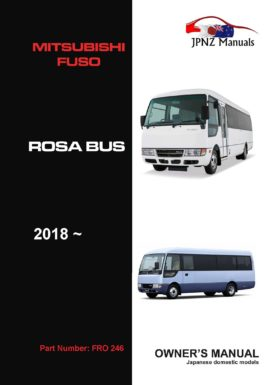 Mitsubishi Fuso – Rosa Bus 2018 - Current Owners User Manual In English