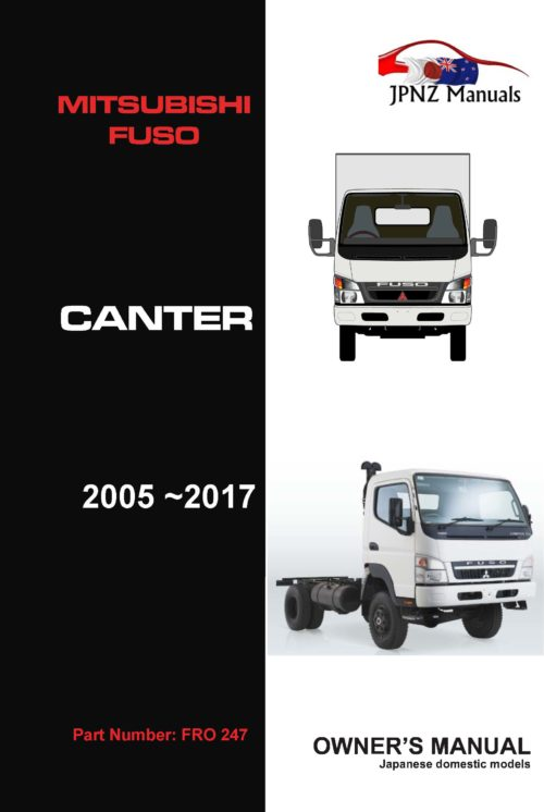 Mitsubishi Fuso - Canter Truck owners user manual in English | 2005 - 2017