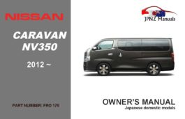 Nissan - Caravan - NV350 owners user manual in English | 2012 - Current
