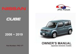 Nissan - Cube, Cubic car owners user manual in English | 2008 - 2019