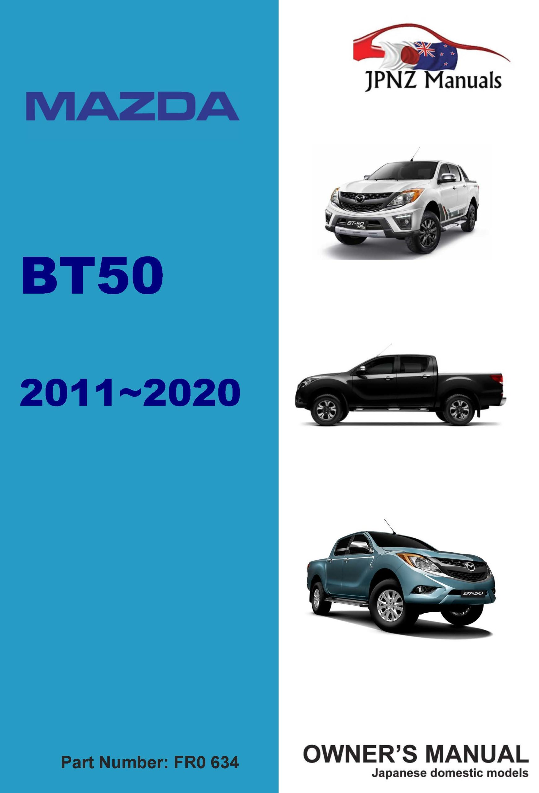 Mazda - BT50 car owners user manual in English | 2011 - 2020