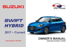 Suzuki – Swift Hybrid owners user auto manual in English | 2017 ~ Current model