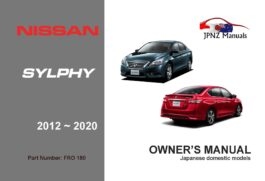 Nissan - Bluebird Sylphy car owners user manual in English | 2012 - 2020