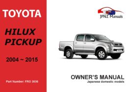 Toyota - Hilux Pickup user owners manual in English | 2004 - 2015