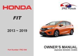 Honda – Fit car owners user manual in English | 2013 – 2019