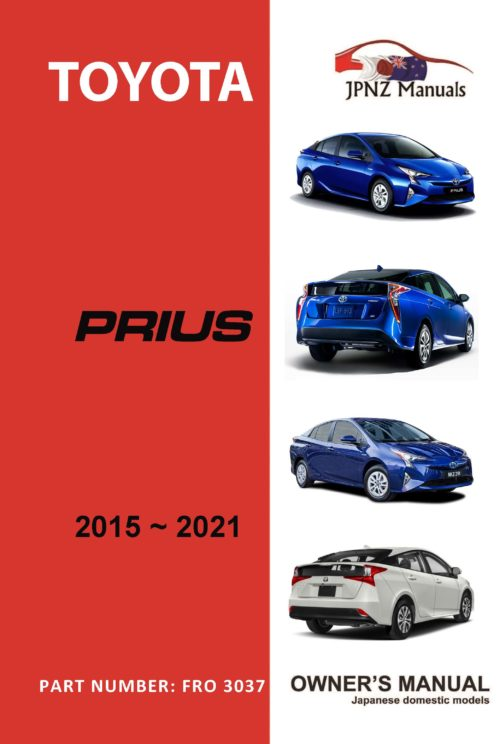Toyota – Prius Hybrid owners user manual in English | 2015 – 2021