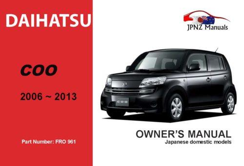 Daihatsu - Coo Car Owners User Manual in English 2004~2013