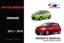 Mitsubishi - Mirage owners user manual in English | 2012 - 2019