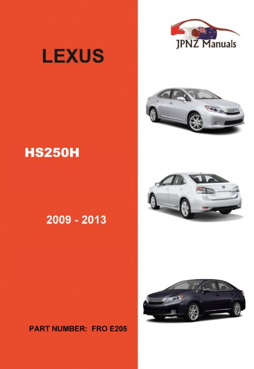 Lexus – HS250H 2009 – 2013 Car Owner's User Manual in English