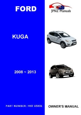 Ford - Kuga user owners manual in English | 2008 - 2013