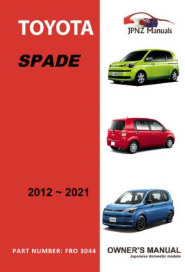 Toyota - Spade owners user manual in English | 2012 - 2021