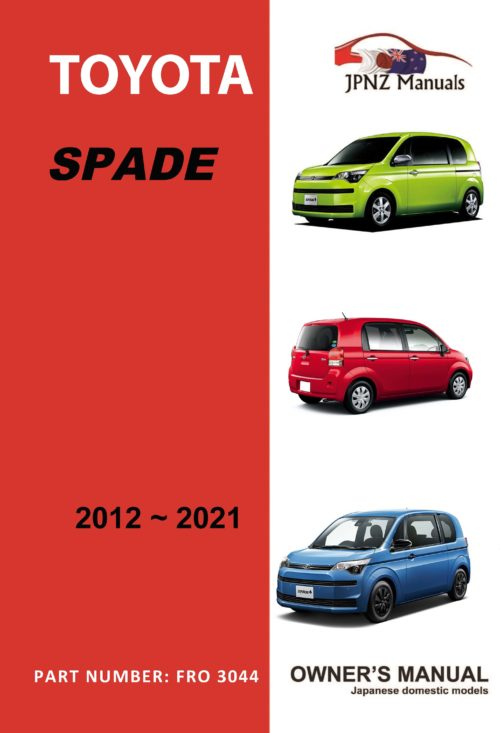 Toyota - Spade owners user manual in English   2012 - 2021