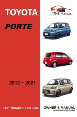 Toyota - Porte owners user manual in English | 2012 - 2021