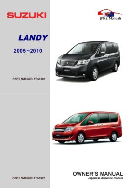 Suzuki – Landy owners user manual in English | 2010 ~ 2016