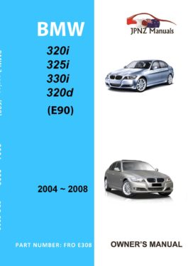 BMW - 3 Series E90 Owners User Manual In English   2004 - 2008