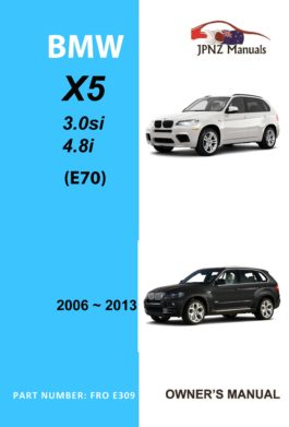 BMW - X5 Series E70 car owners user manual in English | 2006 - 2013