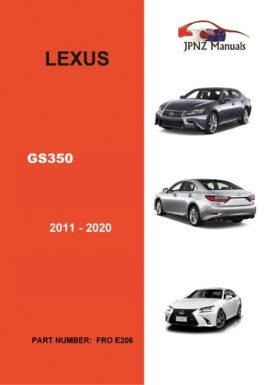 Lexus – GS350 2011 – 2020 Car Owner's User Manual in English