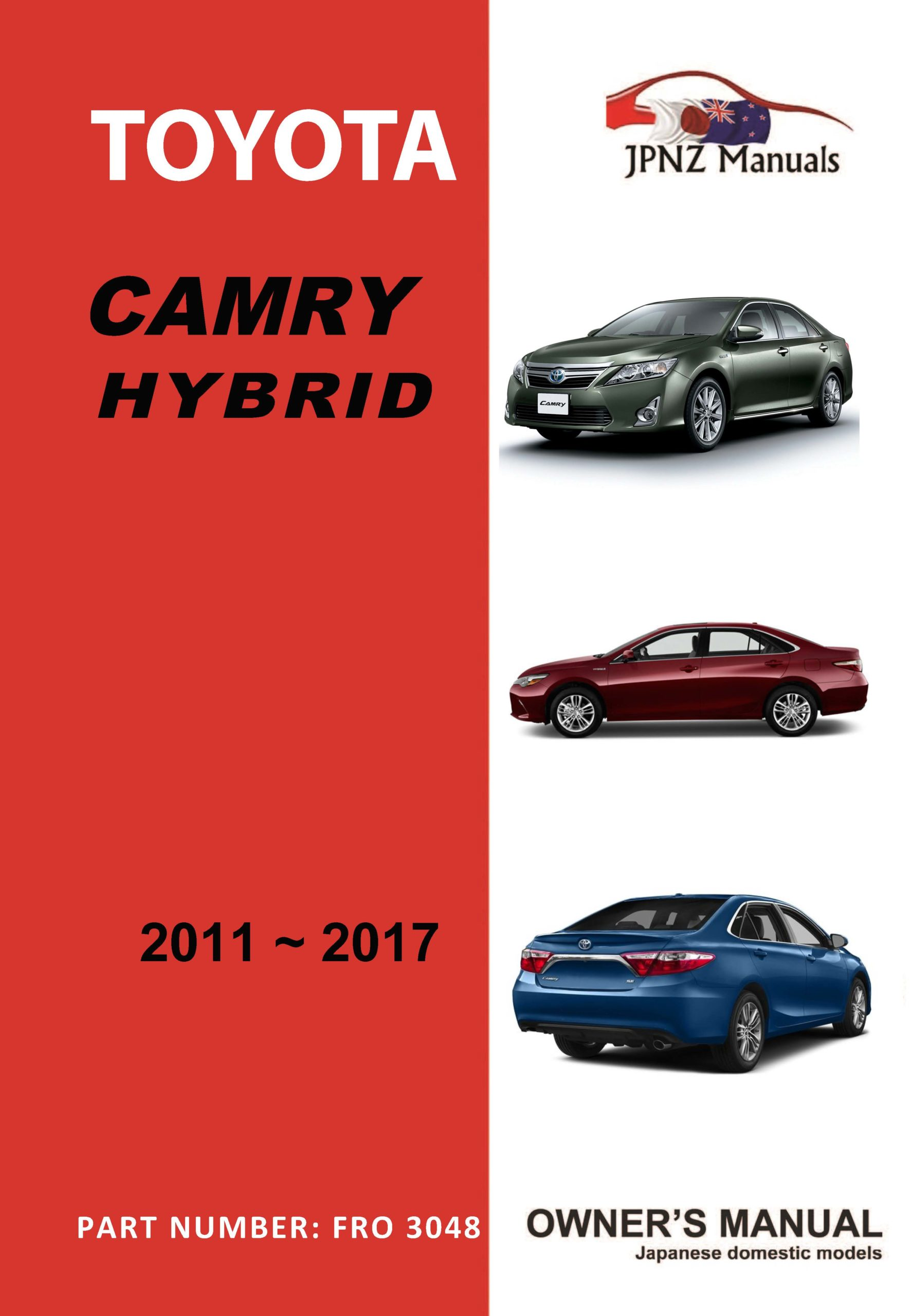 Toyota - Camry Hybrid owners user manual in English | 2011 - 2017