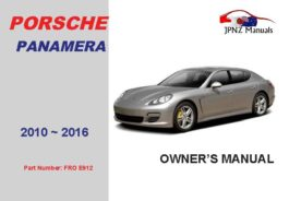 Porsche – Panamera owners user manual in English | 2010 – 2016